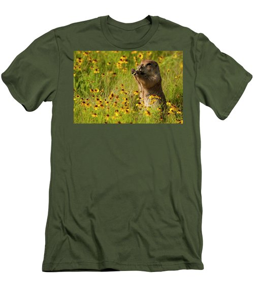 Prairie Dog Lunch Men's T-Shirt (Athletic Fit)