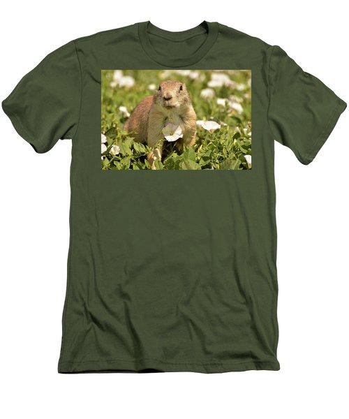 Prairie Dog Men's T-Shirt (Slim Fit) by Nancy Landry