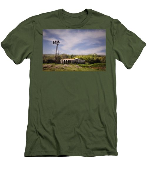 Men's T-Shirt (Slim Fit) featuring the photograph Prairie Farm by Lana Trussell