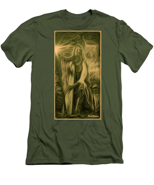 Praise Him With The Harp I Men's T-Shirt (Athletic Fit)
