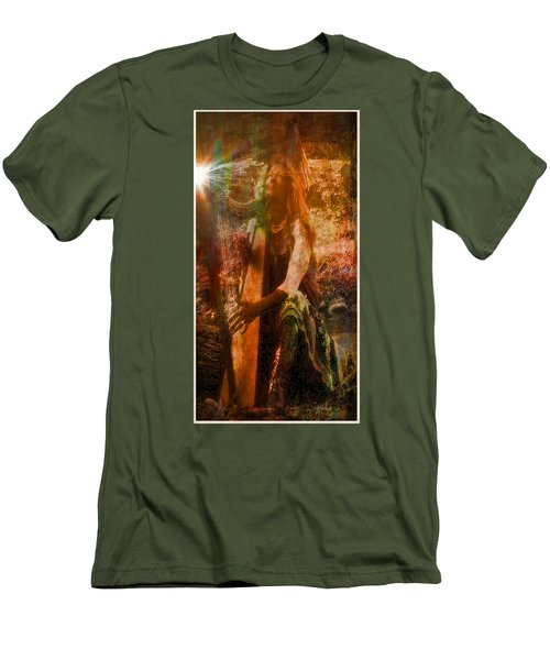Praise Him With The Harp II Men's T-Shirt (Slim Fit) by Anastasia Savage Ealy