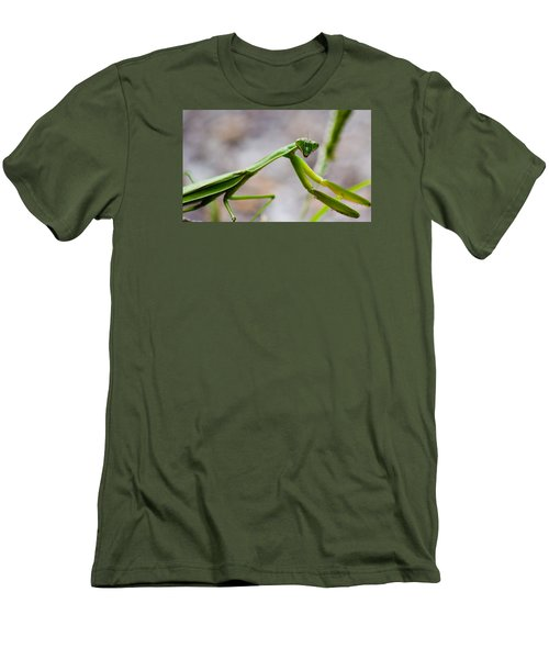 Praying Mantis Looking Men's T-Shirt (Athletic Fit)