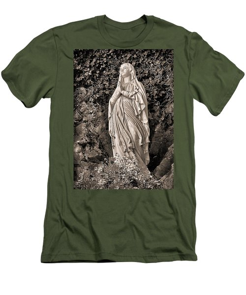 Men's T-Shirt (Athletic Fit) featuring the photograph Praying Nun by Elf Evans