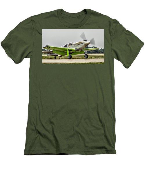 Men's T-Shirt (Slim Fit) featuring the photograph Precious Metal Final Flight by Alan Toepfer
