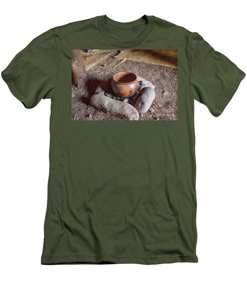 Men's T-Shirt (Slim Fit) featuring the photograph Prehistoric Cooking  by Patricia Hofmeester