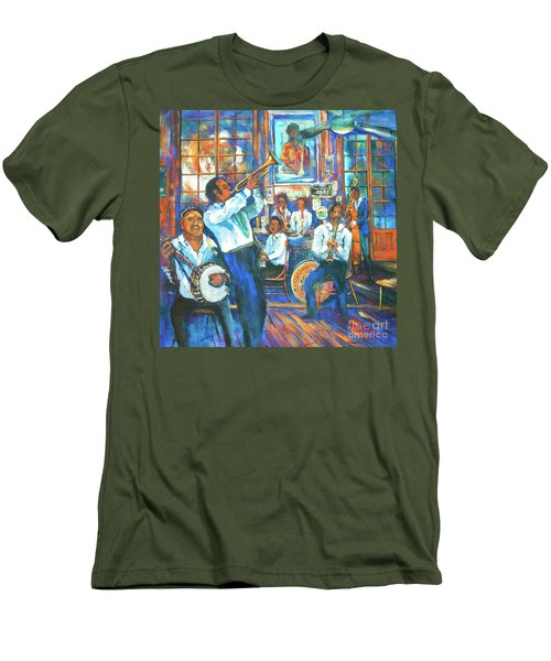 Men's T-Shirt (Slim Fit) featuring the painting Preservation Jazz by Dianne Parks