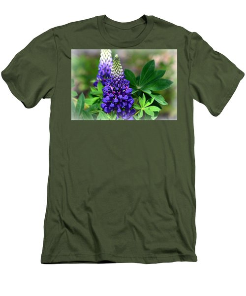 Men's T-Shirt (Slim Fit) featuring the photograph Pretty In Purple by Clarice  Lakota