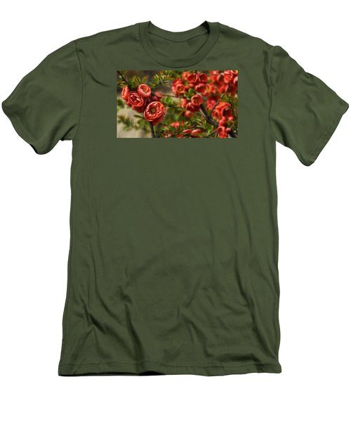 Pretty In Red Men's T-Shirt (Slim Fit) by Cameron Wood