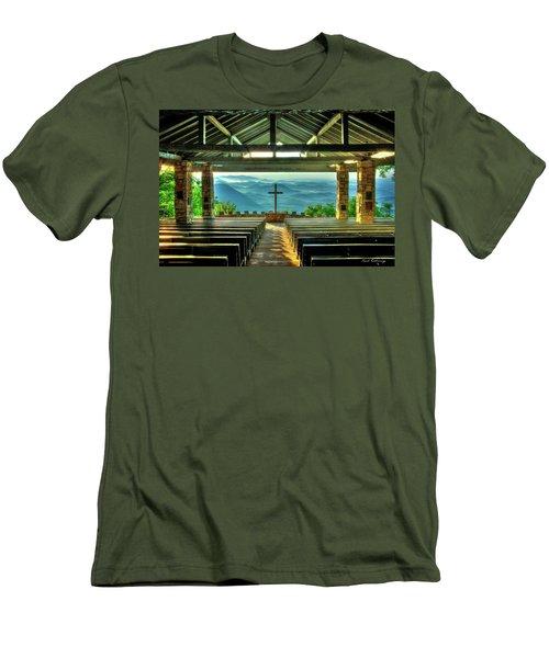 Pretty Place Chapel The Son Has Risen Men's T-Shirt (Slim Fit) by Reid Callaway