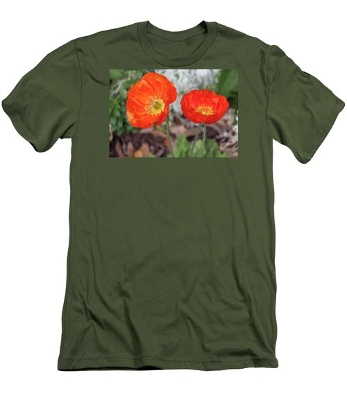 Pretty Poppies Men's T-Shirt (Athletic Fit)