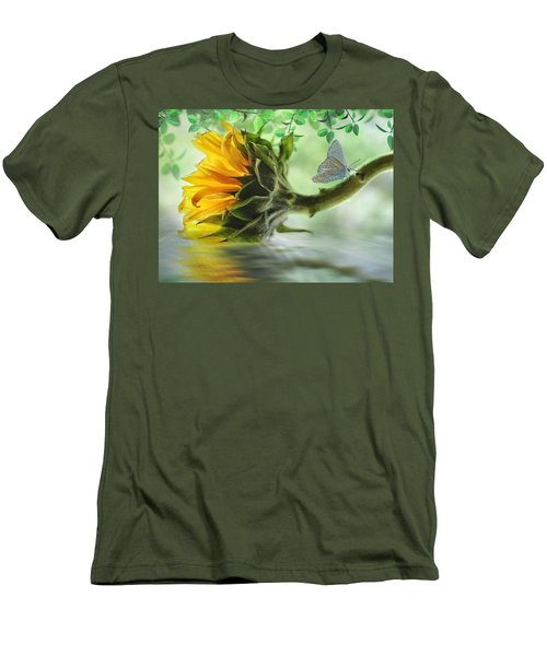 Pretty Sunflower Men's T-Shirt (Slim Fit) by Nina Bradica