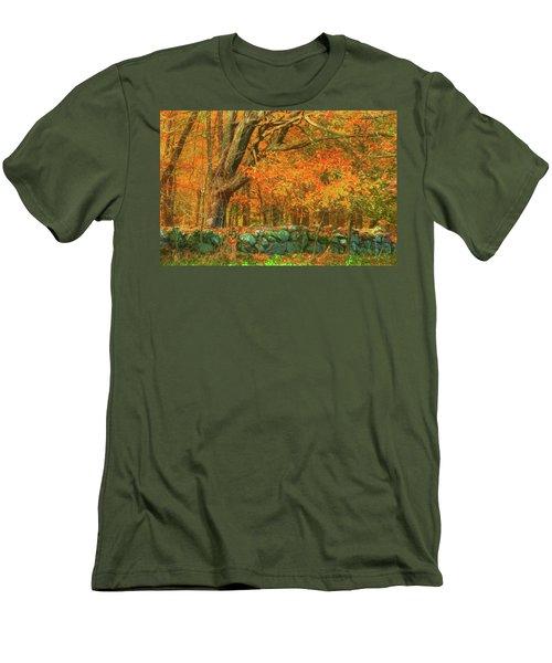 Preuss Road Stone Wall Men's T-Shirt (Slim Fit) by Trey Foerster