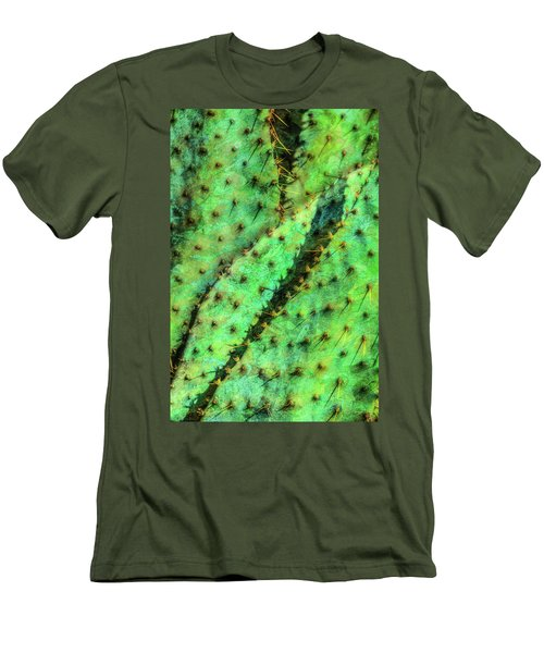 Men's T-Shirt (Slim Fit) featuring the photograph Prickly by Paul Wear