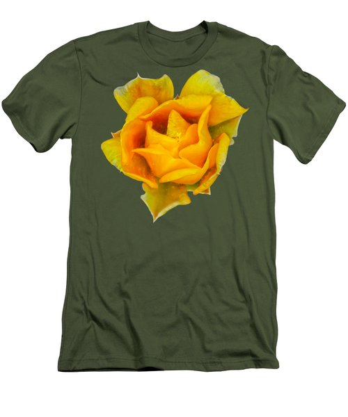 Prickly Pear Flower H11 Men's T-Shirt (Slim Fit) by Mark Myhaver