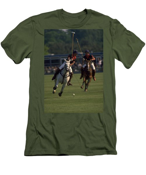 Prince Charles Playing Polo Men's T-Shirt (Athletic Fit)