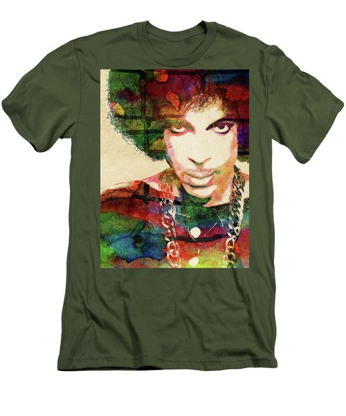 Prince Men's T-Shirt (Slim Fit) by Mihaela Pater