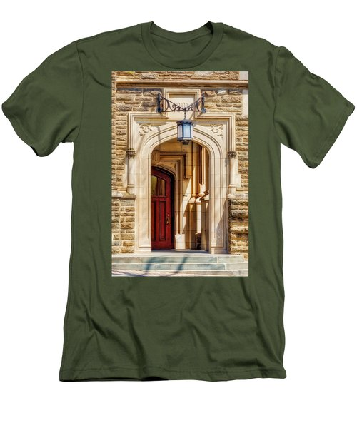 Men's T-Shirt (Slim Fit) featuring the photograph Princeton University 1901 Laughlin Hall by Susan Candelario