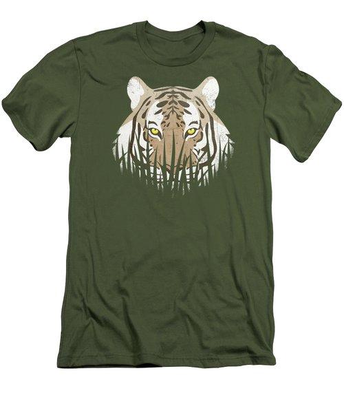 Hiding Tiger Men's T-Shirt (Slim Fit) by Sinisa Kale