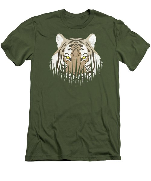 Hiding Tiger Men's T-Shirt (Athletic Fit)