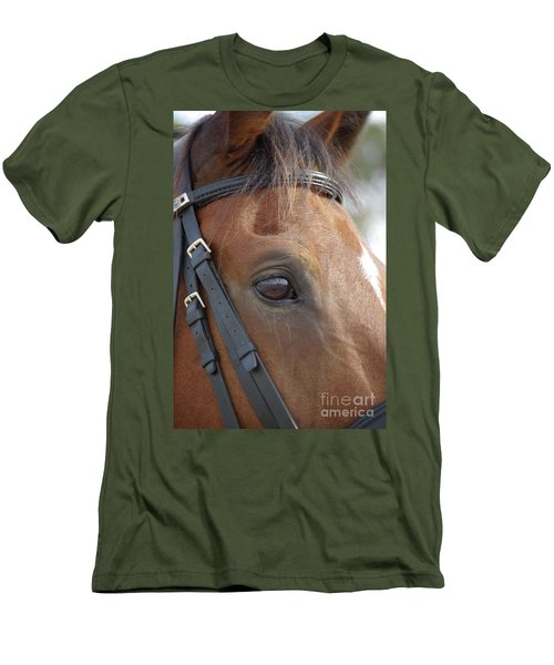 Men's T-Shirt (Slim Fit) featuring the photograph Prinz by Jim and Emily Bush