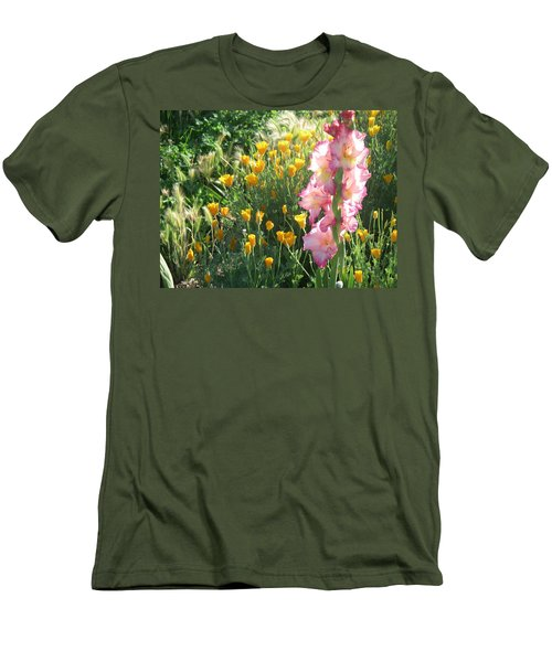 Priscilla With Poppies Men's T-Shirt (Athletic Fit)
