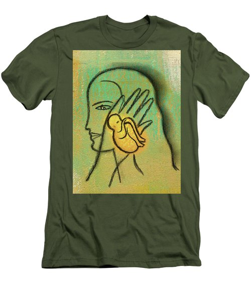 Men's T-Shirt (Slim Fit) featuring the painting Pro Abortion Or Pro Choice? by Leon Zernitsky