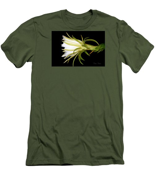 Profile Night Blooming Cereus Men's T-Shirt (Slim Fit) by Barbara Chichester