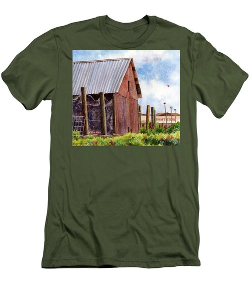 Men's T-Shirt (Slim Fit) featuring the painting Progression by Anne Gifford