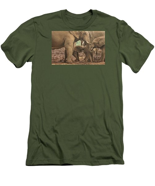 Men's T-Shirt (Slim Fit) featuring the photograph Protecting The Babies by Gary Hall