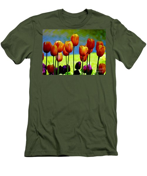 Proud Tulips Men's T-Shirt (Athletic Fit)