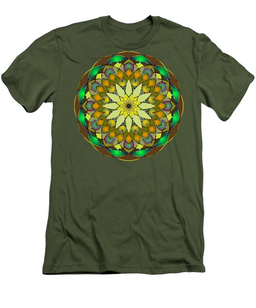 Psychedelic Mandala 008 A Men's T-Shirt (Athletic Fit)