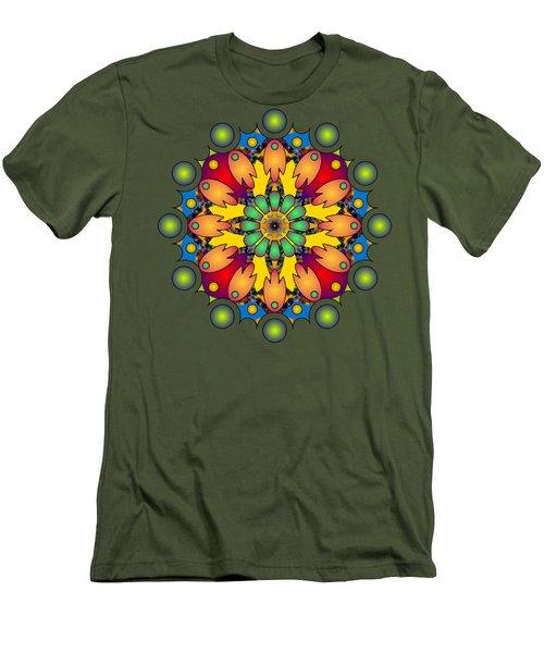Psychedelic Mandala 009 A Men's T-Shirt (Slim Fit) by Larry Capra