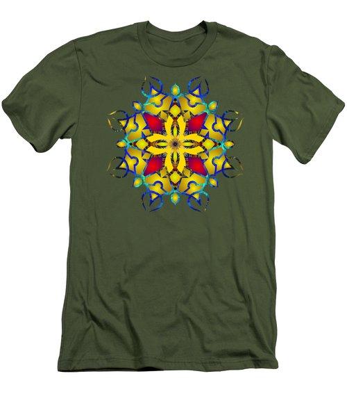 Psychedelic Mandala 011 B Men's T-Shirt (Slim Fit) by Larry Capra