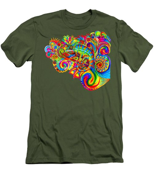 Psychedelizard Men's T-Shirt (Athletic Fit)