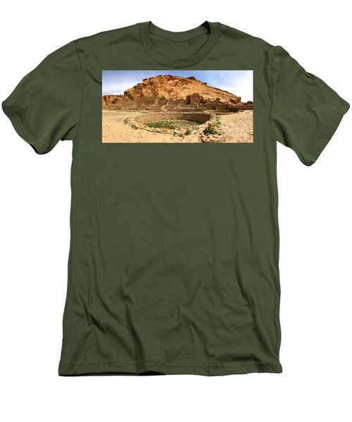 Men's T-Shirt (Slim Fit) featuring the photograph Pueblo Bonito Kiva Ruins by Adam Jewell