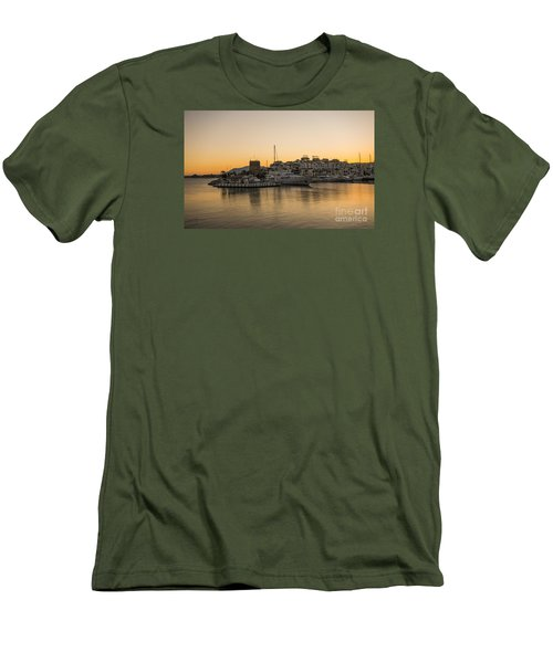Puerto Banus In Marbella At Sunset. Men's T-Shirt (Slim Fit) by Perry Van Munster