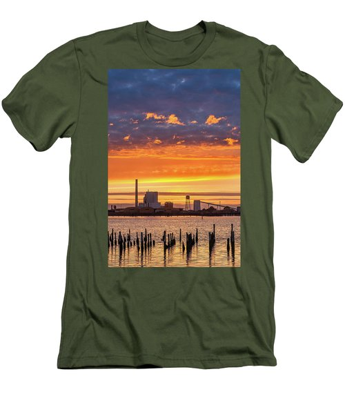 Men's T-Shirt (Slim Fit) featuring the photograph Pulp Mill Sunset by Greg Nyquist