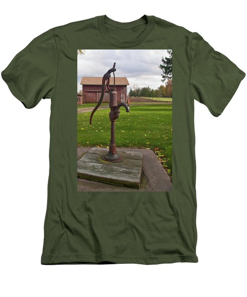 Men's T-Shirt (Slim Fit) featuring the photograph Pump 13951 by Guy Whiteley