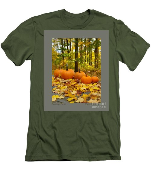 Pumpkins And Woods-ii Men's T-Shirt (Slim Fit) by Patricia Overmoyer