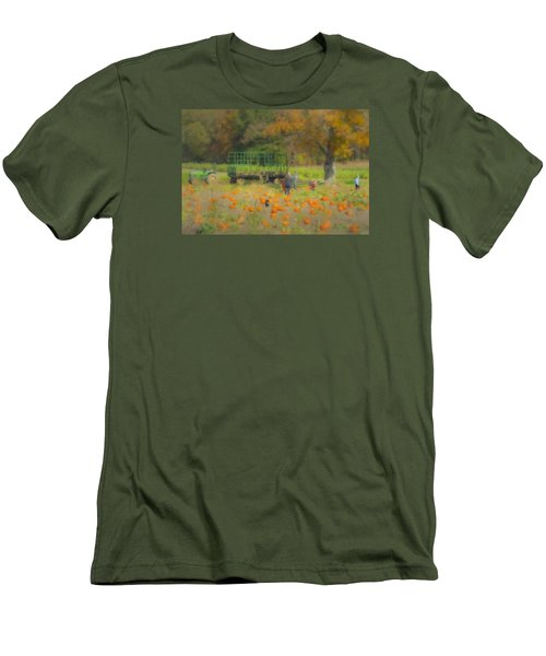 Pumpkins At Langwater Farm Men's T-Shirt (Athletic Fit)