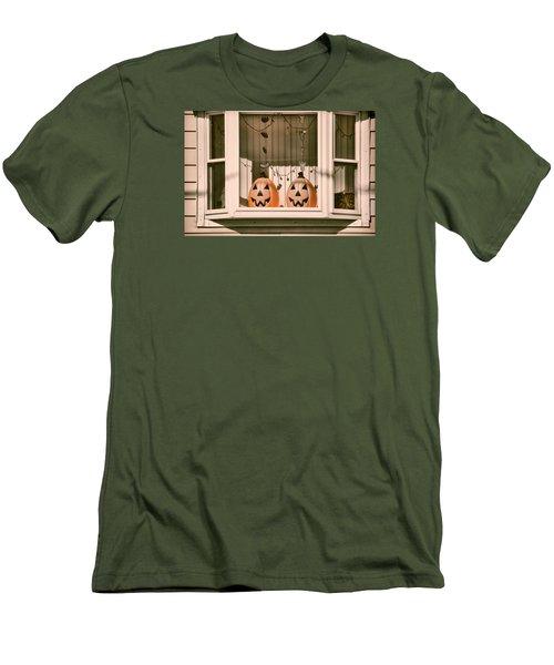 Pumpkins Of The Past Men's T-Shirt (Slim Fit) by JAMART Photography