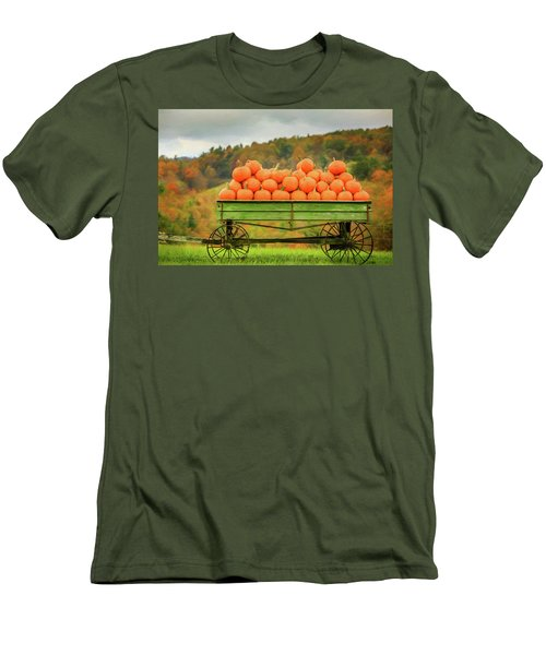 Pumpkins On A Wagon Men's T-Shirt (Athletic Fit)