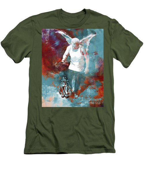 Men's T-Shirt (Slim Fit) featuring the painting Puppet Man 003 by Gull G