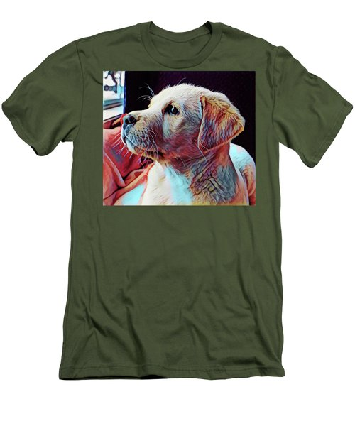 Puppy Dog Men's T-Shirt (Slim Fit) by Gary Grayson