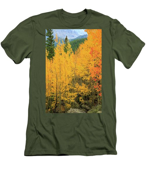 Men's T-Shirt (Slim Fit) featuring the photograph Pure Gold by David Chandler