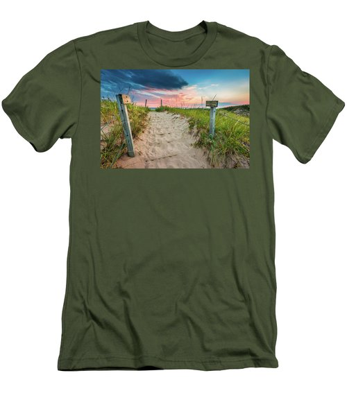Men's T-Shirt (Athletic Fit) featuring the photograph Pure Michigan Sunset by Sebastian Musial
