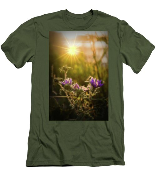 Purple Aster Glow Men's T-Shirt (Athletic Fit)