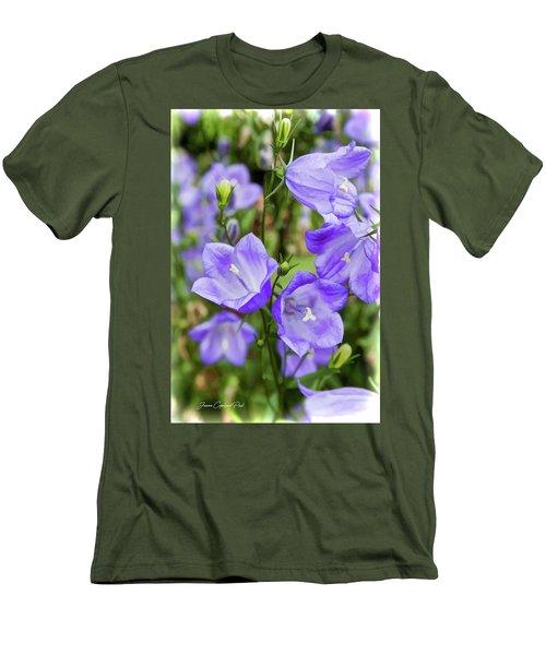 Purple Bell Flowers Men's T-Shirt (Slim Fit)
