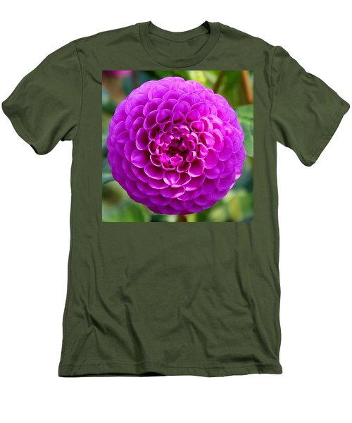 Purple Dahlia Men's T-Shirt (Athletic Fit)