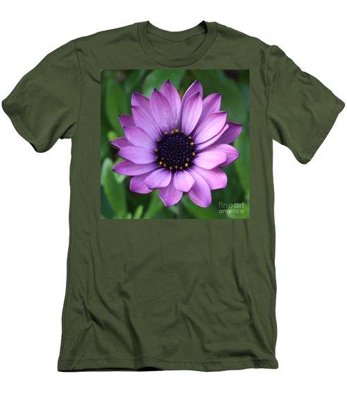 Purple Daisy Square Men's T-Shirt (Athletic Fit)
